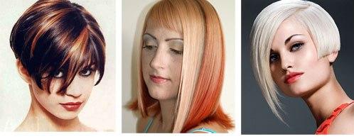 завитые кончики волос