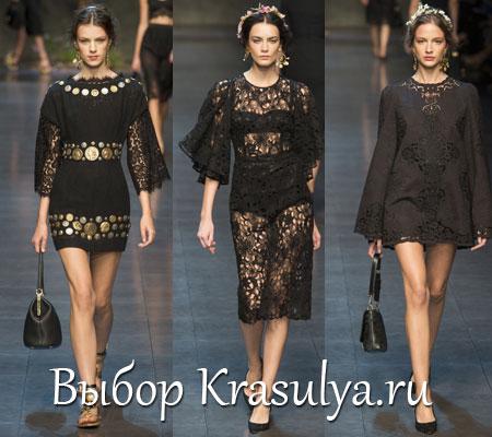 Платье дольче габбана кружево черное