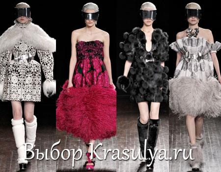 Гардероб наших леді в колекціях fashion дизайнерів - Страница 2 Platya-s-mehom-2012-2013
