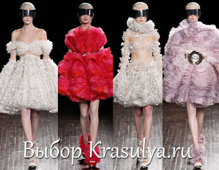 Гардероб наших леді в колекціях fashion дизайнерів - Страница 2 Platya-s-mehom-2012-2013_4