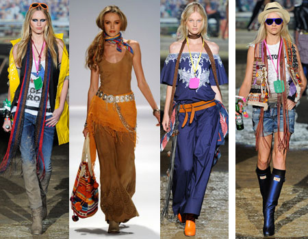 Стиль хиппи в одежде 2012 для девушек. Фото