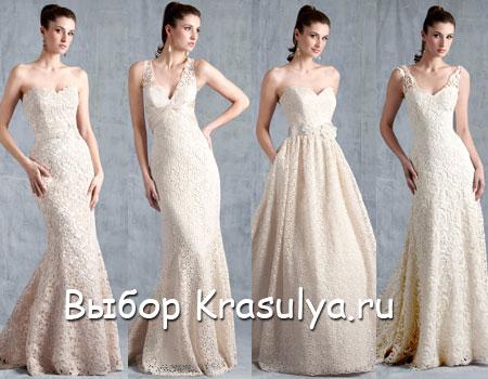 Ажурные свадебные платья 2015 из