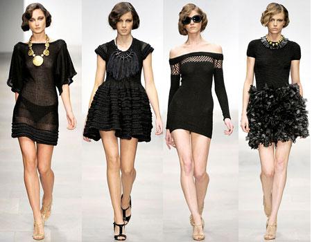 Трикотажное длинное черное платье